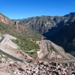 Strasse im Barranca del Cobre wird asphaltiert